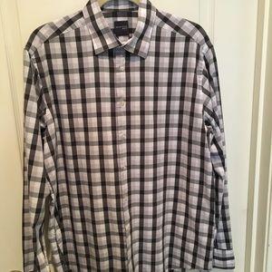 Black/White/Grey-Striped Madison Botton-Down Shirt